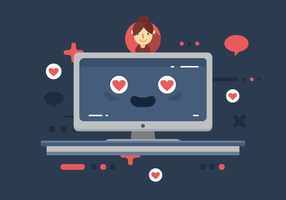 En amour avec la technologie vecteur