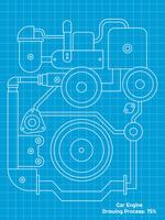 Beaux vecteurs de dessin de moteur de voiture