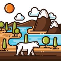 National Park Illustration