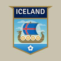 Badges de football de la Coupe du monde d'Islande