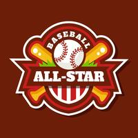 Baseball All-Star Badge Vector
