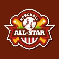 Baseball All-Star Badge Vector