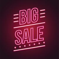 Leuchtreklame Big Sale