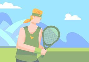 Australiano en el campo de tenis
