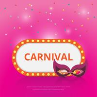 Parade Illustration Template. Colorful Retro Lamp Sign.