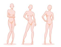 Female Posed Mannequin Vector