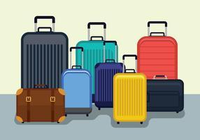 Ilustração vetorial de bagagem