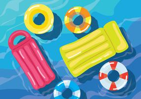 Pool Inflatables Vector Illustration