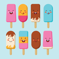 summer popsicles vektorer