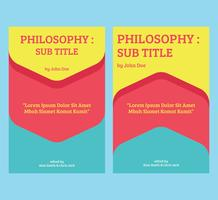 Philosophy book cover vector template
