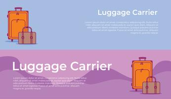 Luggage Carrier Banner vector