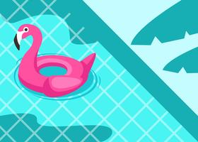 Pink Flamingo Inflatable Background