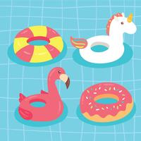 Pool inflatables Collection Vector