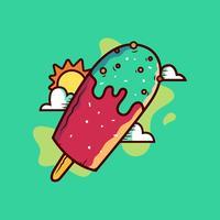 Vecteur de Popsicles de l'été