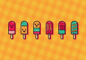 Cute Summer Popsicles Vector