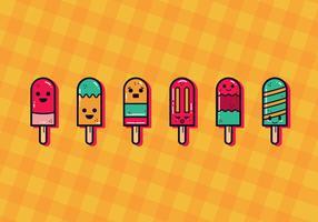 Vecteur de Popsicles mignon été