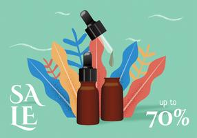 Essential Oils Sale Vector Design