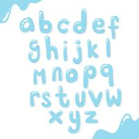Water Alphabet Design vector