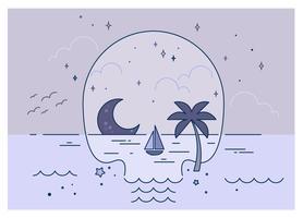Vetor de praia do crânio
