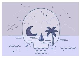 Skull-beach-vector