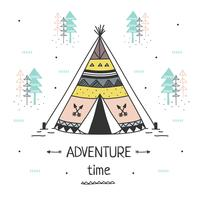 Vecteur de temps d'aventure