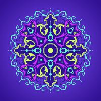 Mandala Decorativa Ornaments Purple Background Vector