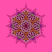 Mandala Decorative Ornaments Pink Background Vector
