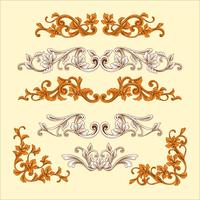 Vintage Baroque Frame Ornament with Engrave Style vector