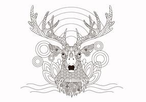 Coloring Book Animals Deer Vector