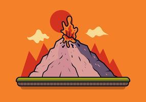Vector de volcán