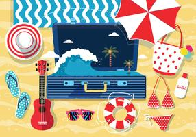Beach Accessories Knolling Vol. 2 Vector