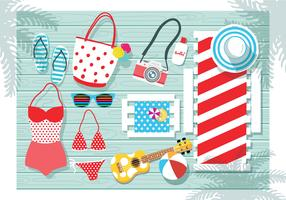 Beach Accessories Knolling Vol. 3 Vector