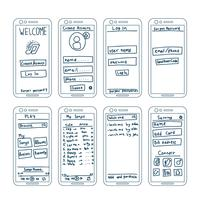 Musique Apps Wireframe Elements