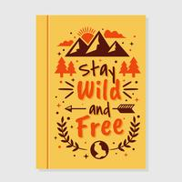 Wild and Free Motivational Book Cover