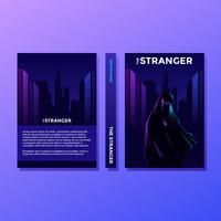 Den Stranger Motivational Book Cover Vector
