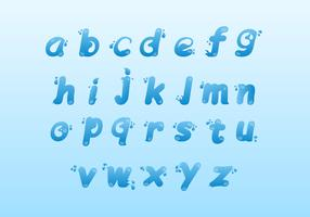 Water Alphabet Icon Set