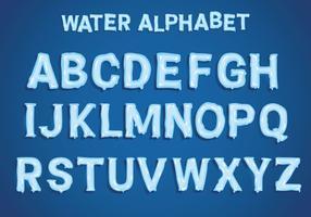 Vetor de alfabeto de água