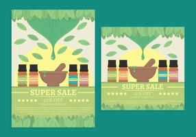 Essential oils sale vector