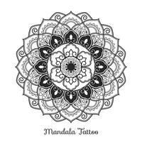 Mandala prydnad. Boho stil bakgrundsdesign
