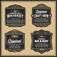 Vintage frame design for labels, banner, sticker and other desig vector