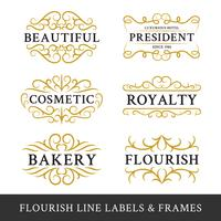 Set of flourish calligraphy frames design for business and produ vector