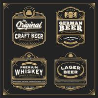 Vintage frame design for labels banner sticker and other design. vector