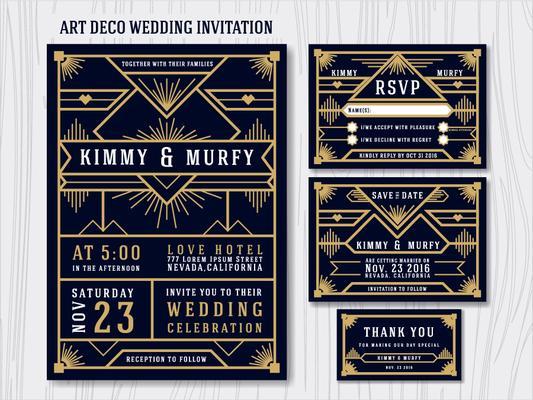 Gold Invite Gold Wedding Invite Gatsby Black Invite,P025 Custom Geometrical Wedding Invitation Printable GREAT GATSBY WEDDING Invitation
