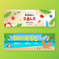 Fond de bannière de promotion de vente d'été