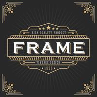 Vintage line frame art deco style