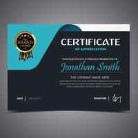 Dark And Blue Diploma Template