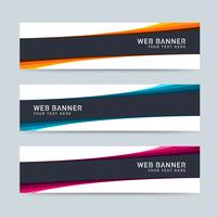 Black And Colored Header Set vector