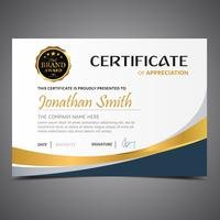 Blue Golden Diploma Template