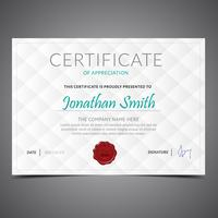 Simple White Diploma Template
