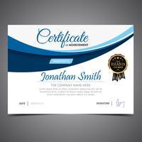 Elegant Blue Diploma Template